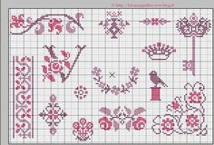 winter cross stitch borders | Via Gülay Şahin Yılmaz