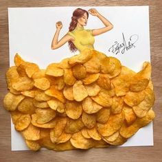 Miss. Chips Made out of potato chips.:
