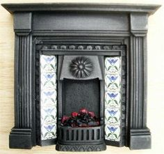 Dolls House Fireplace with Lit Fire from Bromley Craft Products Ltd.