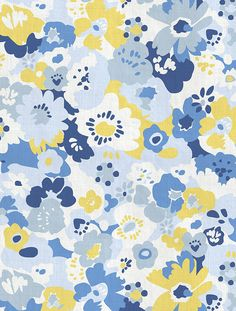 Wildflower Designer Fabric by Aimée Wilder. Sold by the yard. Materials: 100% Cotton Sailcloth, Fine Belgian 50/50 Linen/Cotton Blend, 100% Belgian Linen, or 100% Organic Cotton Denim Length*: 1 yard