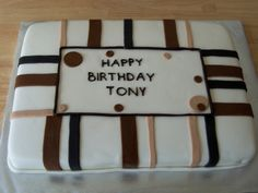 Masculine Birthday Cake By d925marie on CakeCentral.com