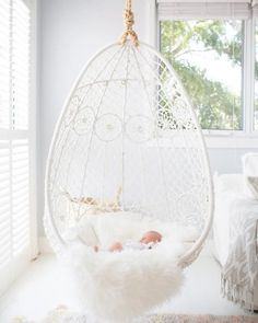 A bedroom is a perfect place for an indoor hanging chair. Find the perfect one for YOU! Five reasons why you should have a hanging chair in YOUR bedroom Cute Room Ideas, Cute Room Decor, Girl Bedroom Designs, Girls Bedroom, Bedroom Ideas For Small Rooms For Girls, Tween Room Ideas, Unique Teen Bedrooms, Boho Teen Bedroom, Teenage Girl Bedroom Decor
