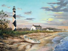 Sunset at Cape Lookout by William Mangum 18x24