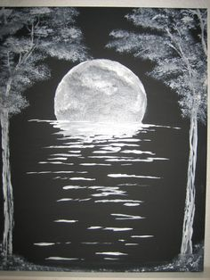 Acrylic PaintingMoon River by Codysquilts on Etsy, $195.00