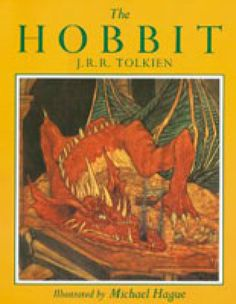 Cover of The Hobbit edition illustrated by Michael Hague - Houghton Mifflin Harcourt