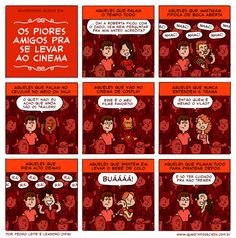 #08 - Os piores amigos pra se levar ao cinema | Quadrinhos Ácidos