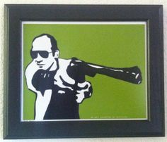 Hunter S Thompson 8 by 10 Pop Art Print Available by anINSTITUTE, $15.00