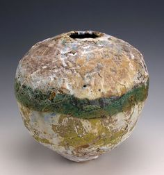 Rachel Wood Ceramics Gallery Large Sphere with Copperband