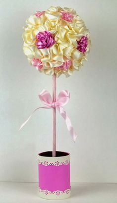 Ribbon Topiary Tree simply stunning using those Hobby House products