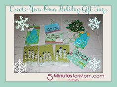 How to Create Your Own Holiday Gift Tags on 5MinutesForMom.com