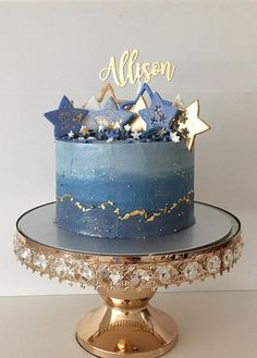 A star/galaxy cake matching with the macarons for Allison's birthday! Inside was my banana dark chocolate ganache. 🌟Gorgeous Cake topper by… Gorgeous Cakes, Pretty Cakes, Cute Cakes, Amazing Cakes, Galaxy Cake, Pastel Cakes, Bolo Cake, Star Cakes, Drip Cakes