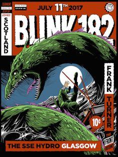 Blink-182 Concert Poster by Ken Taylor  (Onsale Info)