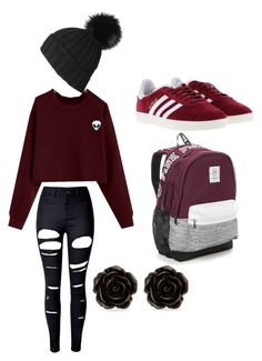 """""""Early Fall Fashion by Sasha"""" by icemaoffical on Polyvore featuring WithChic, adidas, Victoria's Secret, Black and Erica Lyons"""