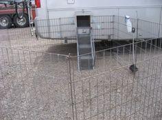 RV doggy door, ramp and pen