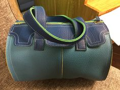 Bag, turquoise and blue urban