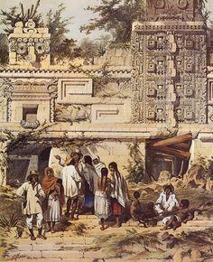 Plate 15, Portion of La Casa de Las Monjas, Uxmal