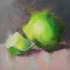 Small Oil Painting Limes Daily Painting by CynthiaHaaseFineArt, $60.00
