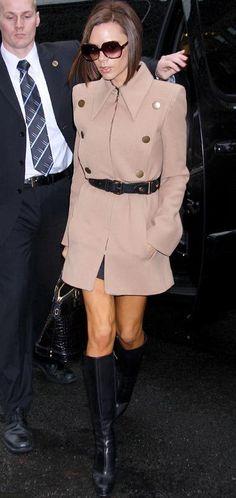 Victoria Beckham Arriving In New York February 07 2008