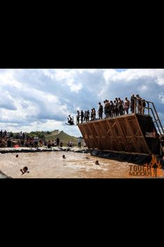 This was the scariest event for me at the Tough Mudder... getting psyched to do it all over again in April!!!!