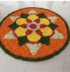 Rangoli Designs Flower, Small Rangoli Design, Rangoli Designs Images, Rangoli Ideas, Rangoli Designs Diwali, Diwali Rangoli, Flower Rangoli, Beautiful Rangoli Designs, Diwali Decorations At Home