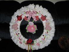 Lady Bug Diaper Wreath