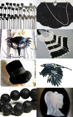 Black is Black by Violeta Warner on Etsy--Pinned with TreasuryPin.com #vintage #jewelry #Fashion #etsyretwt