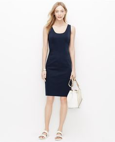 Blue Is In Ann Taylor Cotton Sa Scoop Neck Dress Loft