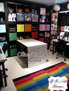 If Its Not Baroque...: Music and Fashion Inspired Office/Craft Room Reveal