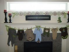 clothes line in blue and brown?
