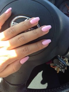 Emily's Design Nail - San Jose, CA, United States. Baby pink coffin nails