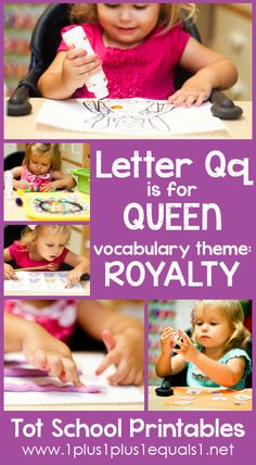Tot School Printables Letter Q is for Queen {free} from @{1plus1plus1} Carisa #totschool