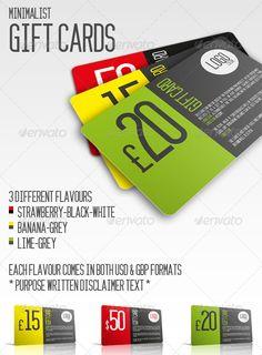 Minimalist Gift Cards