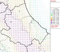 Mappa di pericolosita' sismica del territorio nazionale - Abruzzo