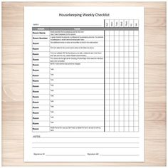 Weekly School Assignments And Tests Sheet  Printable  School