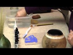 Gourd Crafting: Layered Color.mp4  Using dyes especially for gourds. Gourdtv