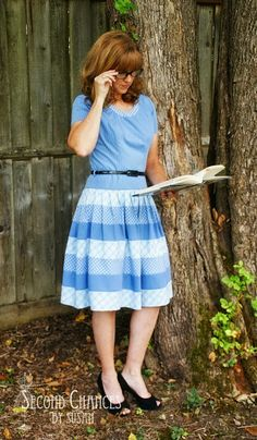Mad For Plaid!... 4 men's shirts refashioned into a beautiful dress ~ Second Chances by Susan