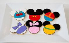 Mickey Mouse clubhouse birthday party cookies