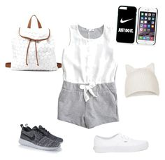 """Untitled #15"" by steverusk ❤ liked on Polyvore featuring Vans, NIKE, Charlotte Russe and Topshop"
