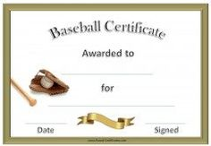 a variety of free printable baseball certificate templates many more free sports awards and award certificates on this site