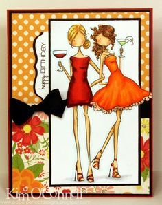 Party Girls by MrsOke - Cards and Paper Crafts at Splitcoaststampers