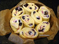 BLUEBERRY CREAM CHEESE SWIRLY BREAD .... oh my! Seriously soft, sticky, creamy yummy! Happy baking! Lovefoodies