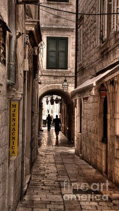 Tunnel in the White Streets of Dubrovnik - Weston Westmoreland