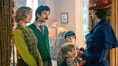 Disney released new exclusive pictures for 'Mary Poppins Returns' - sequel to the 1964 original film 'Mary Poppins' - featuring Emily Blunt as the extravagant nanny, Lin-Manuel Miranda, Ben Whishaw, and Emily Mortimer! Emily Blunt Mary Poppins, Mary Poppins Movie, Mary Poppins Costume, Mary Poppins Returns Cast, Jane And Michael, Emily Mortimer, Mysterious Events, Ben Whishaw, Disney Movies To Watch