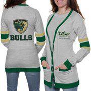 South Florida Bulls Ladies Study Hall Long Sleeve Cardigan - Ash WANT!