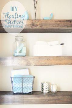 DIY Built-In Floating Shelves   how to build floating shelves