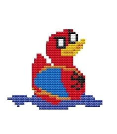 Rubber duck in a Spider-Man costume.
