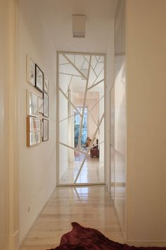 Loft Three Marias in Lisbon, Lisbon, 2014 - AVA – Atelier Veloso Architects Loft Door, Internal Sliding Doors, Door Gate Design, Window Grill, Art Deco, House Front Design, Grill Design, Glass Bathroom, Decorative Panels
