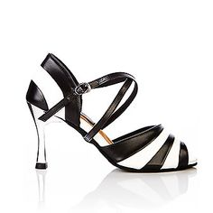 Valentina blue and white leather latin dance shoes with chrome heel by Vivaz Dance Australia. RRP $149