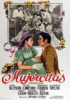 Mujercitas (1949) de Mervyn LeRoy. Guerra de Secesión (1861-1865). Adaptación de la novela homónima de Louise May Alcott. Mientras su padre está en la guerra, cuatro jóvenes hermanas de caracteres muy diferentes realizan un aprendizaje, a veces doloroso, a veces fascinante, de la vida y del amor. A medida que van creciendo, abandonan el hogar familiar. En casa sólo se queda Jo, que quiere ser escritora, y para conseguirlo se traslada a Nueva York, donde logra publicar su primera obra. Louisa May Alcott, Streaming Movies, Hd Movies, Hd Streaming, Movie Film, Action Movies, Movies Online, Vintage Movies, Vintage Posters