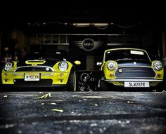 Old and new Mr Bean minis!  Owned by @mr_beanmobile  #minisofinstagram